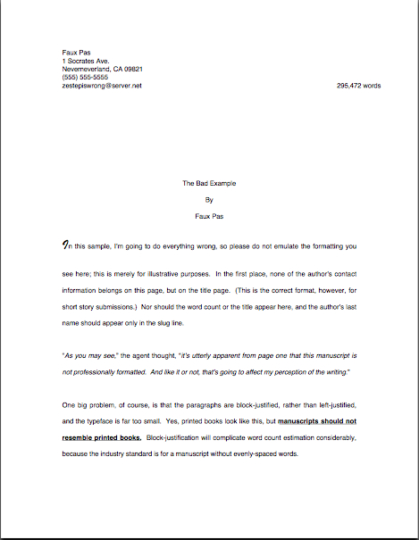 How to format a book manuscript – Author! Author!:: Anne Mini's Blog