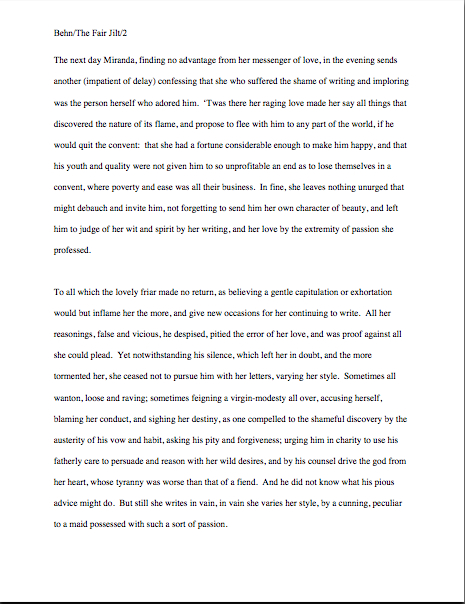 business block format essay