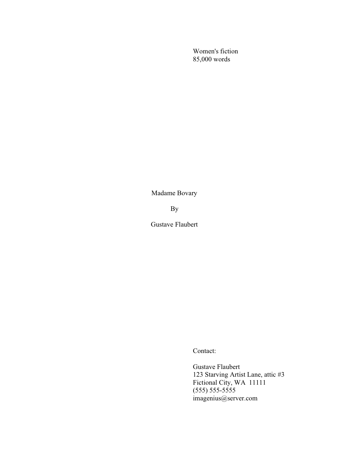 Essay proposal title page