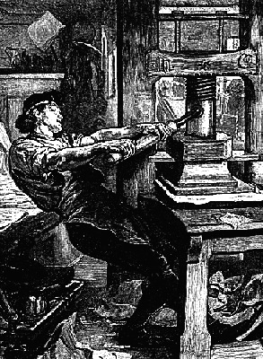 gutenberg press drawing