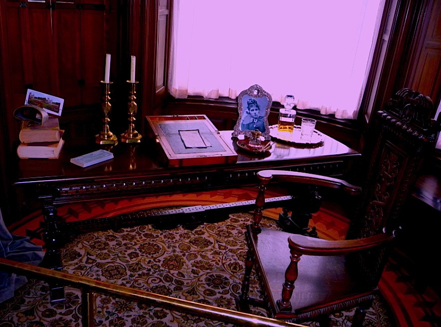 old-fashioned writing desk in Victoria